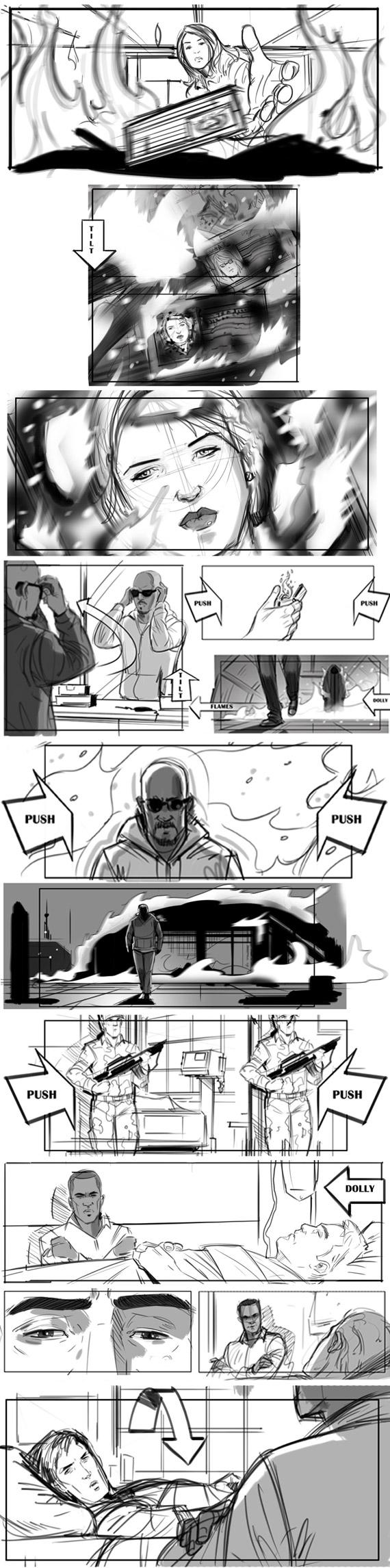 Captain America storyboards, Anthony Liberatore