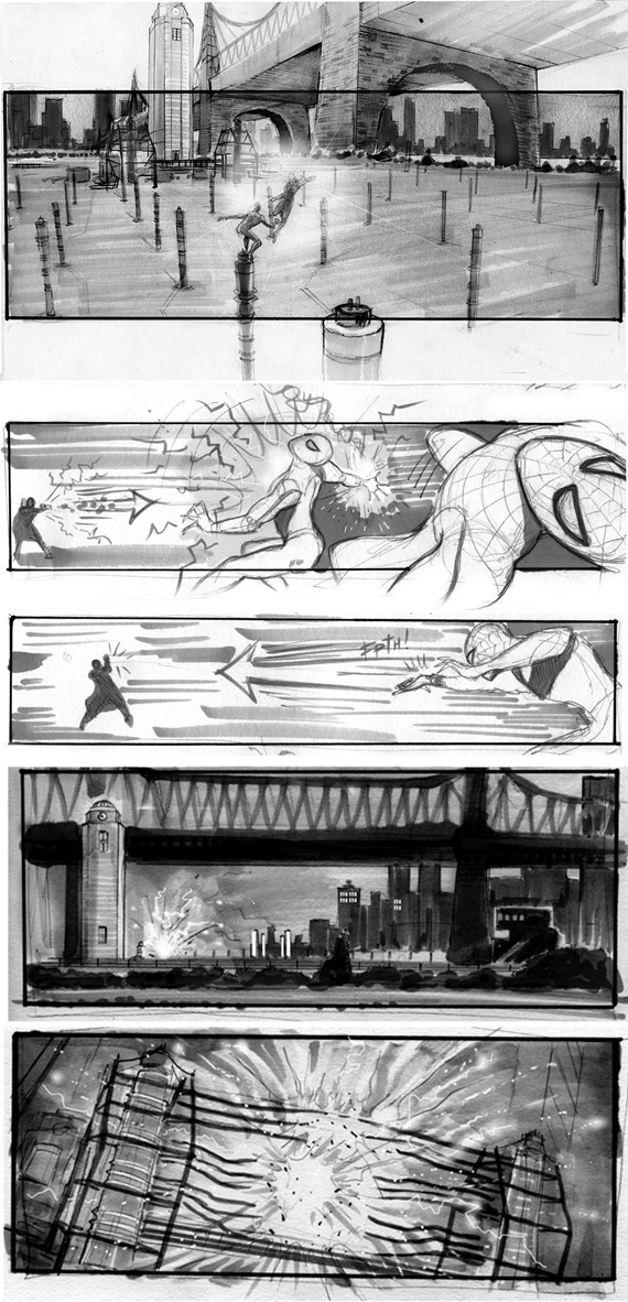 The Amazing Spider-Man 2, Jim Byrkit Storyboards
